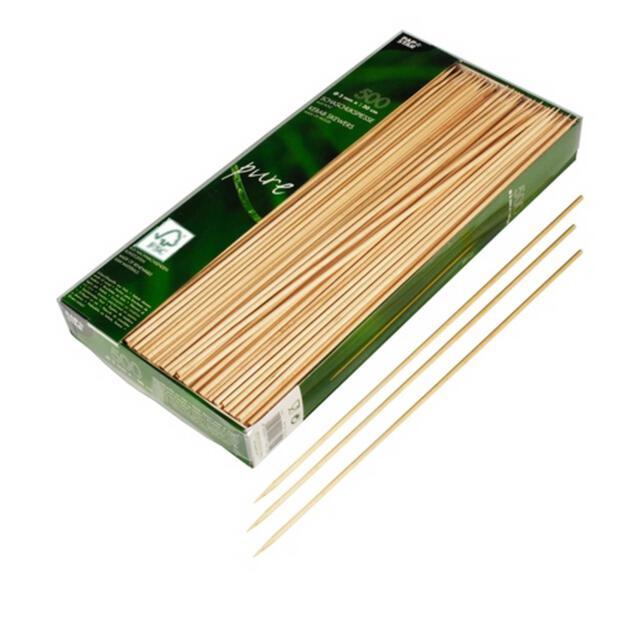500 Papstar pure Schaschlikspieße aus Holz 3cm x 30cm 84849