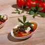 "50 Papstar pure Fingerfood-Schalen aus Zuckerrohr 20ml 8cm x 5cm weiss ""Egg"" 85210"