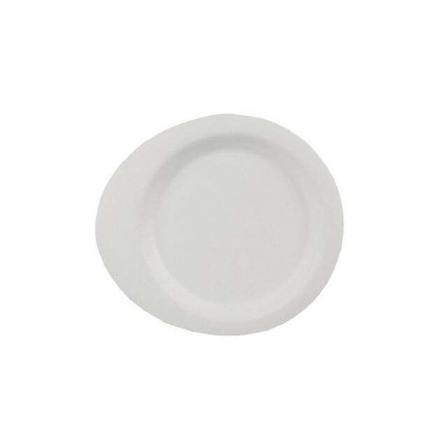 50 Papstar pure Fingerfood-Teller aus Zuckerrohr 12,4cm x 11,2cm weiss 85211