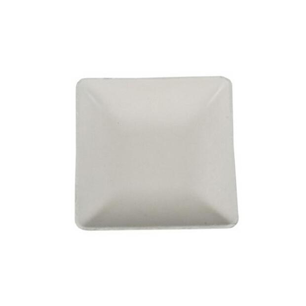 50 Papstar pure Fingerfood-Teller aus Zuckerrohr eckig 6,5cm x 6,5cm weiss 85215