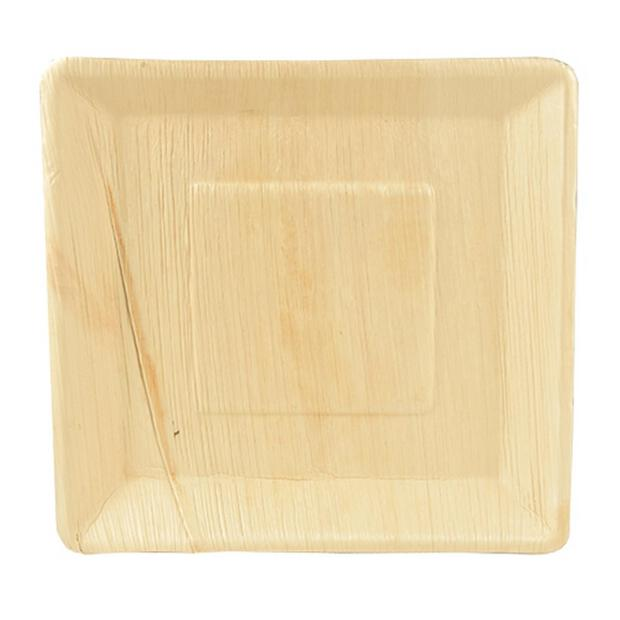 25 Papstar pure Teller aus Palmblatt 25cm x 25cm x2,5cm 85500