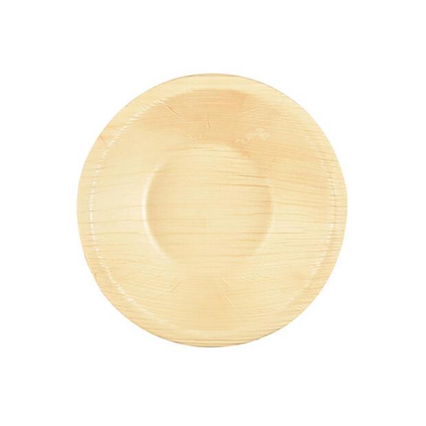 25 Papstar pure Schalen aus Palmblatt rund 200ml  13cm x 3cm 85508