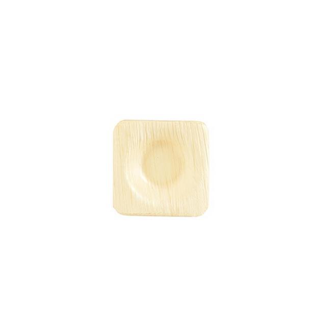 25 Papstar pure Schalen aus Palmblatt eckig 6cm x 6cm x 1,3cm 85509