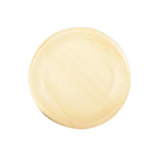 25 Papstar pure Teller aus Palmblatt rund 18,5cm x 2,5cm 85510