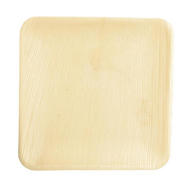 25 Papstar pure Teller aus Palmblatt eckig 25,5cm x 25,5cm x 1,5 cm 85514