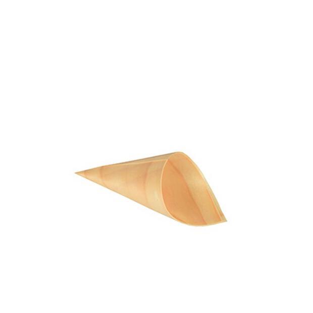 50 Papstar pure Fingerfood-Spitztüten aus Holz 4,5cm x 8,5cm 85673