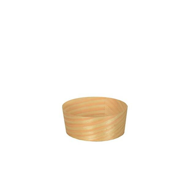 50 Papstar pure Fingerfood-Schalen aus Holz rund 5cm x 2cm 85679