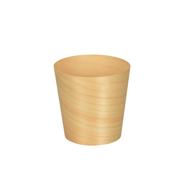 50 Papstar pure Fingerfood-Schalen aus Holz rund  6cm x 6cm 85681