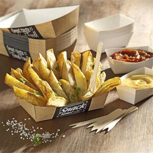 125 Papstar pure Pommes-Frites-Trays 3,5cm x 7cm x 9cm Good Food klein 85817