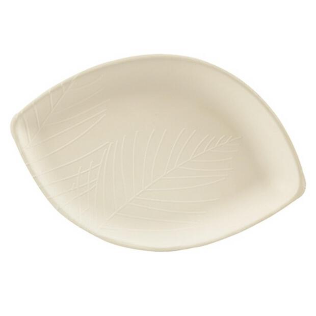 50 Papstar pure Teller aus Zuckerrohr 23,5cm x 36,5cm weiss 86646