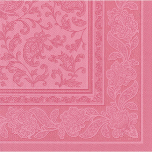 20 Servietten Papstar Royal Collection Ornaments rosa40 cm x 40 cm 11415