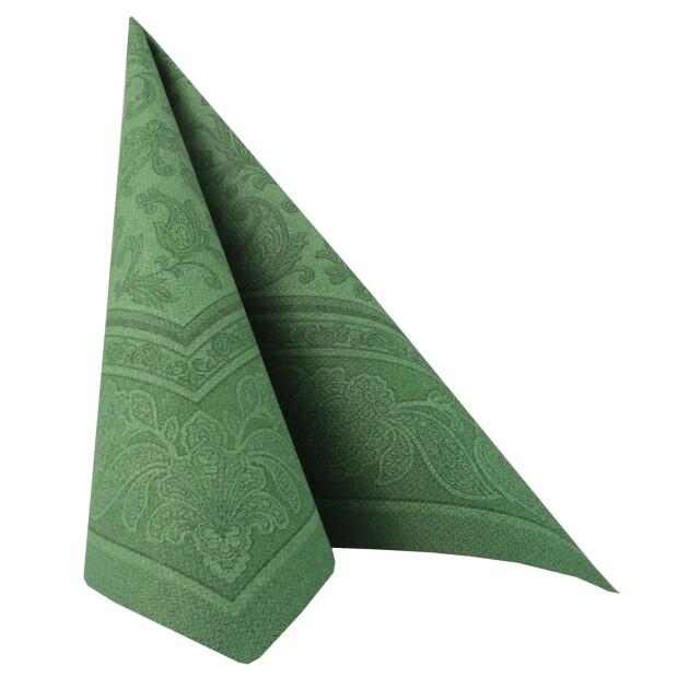 20 Servietten Papstar Royal Collection Ornaments dunkelgrün 40 cm x 40 cm 17050