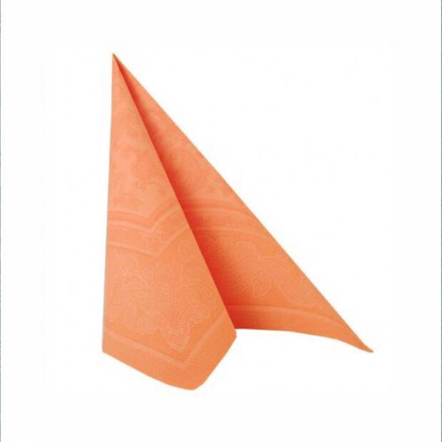 """160x Servietten """"ROYAL Collection"""" 1/4-Falz 40 cm x 40 cm orange """"Ornaments"""""""