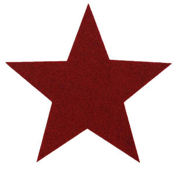 Filzuntersetzer 4mm - Filz Stern Weihnachten - 1 Stück - ca. Ø 15,5 cm - 29 bordeaux rot