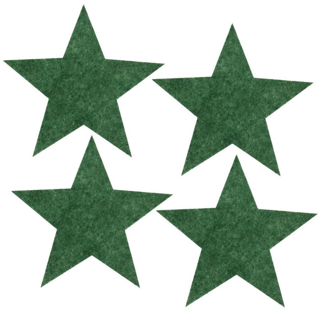 Stern Weihnachten.Filzuntersetzer 4mm Filz Stern Weihnachten 4 Stück Ca ø 15 5 Cm 70 Grün Meliert