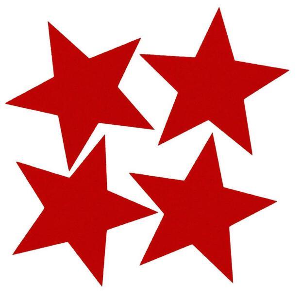 Filzuntersetzer 4mm - Filz Stern Weihnachten - 4 Stück - ca. Ø 15,5 cm - 28 Rot