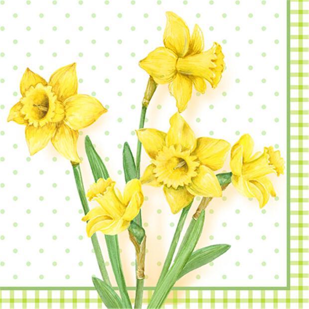 """100 Servietten, 3-lagig 1/4-Falz 33 cm x 33 cm """"Spring Blossoms"""""""