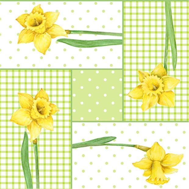 """50 Servietten, 3-lagig 1/4-Falz 40 cm x 40 cm """"Spring Blossoms"""""""