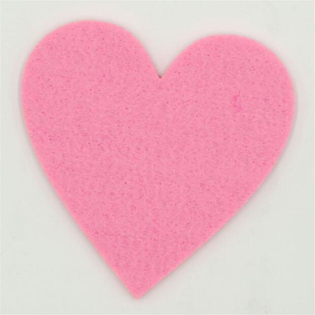 Filzuntersetzer Herz 4mm - 4 Stück - ca. Ø 10 cm - 32 Rosa