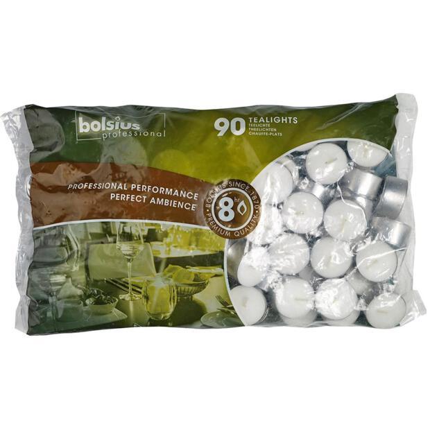 Bolsius Professional Teelichter 90er Beutel, 8h