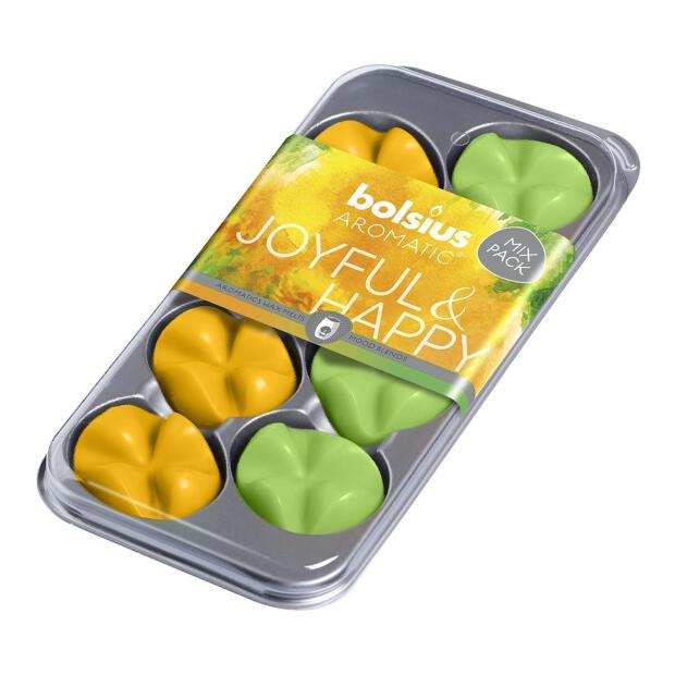 8 Bolsius Wax Melts Mix-Pack Joyful & Happy