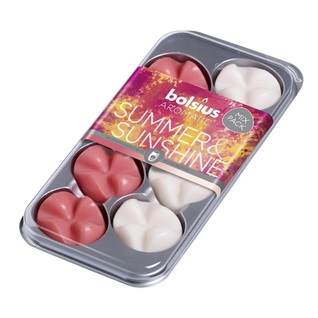 8 Bolsius Wax Melts Mix-Pack Summer & Sunshine