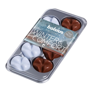 8 Bolsius Wax Melts Mix-Pack Winter & Comfort