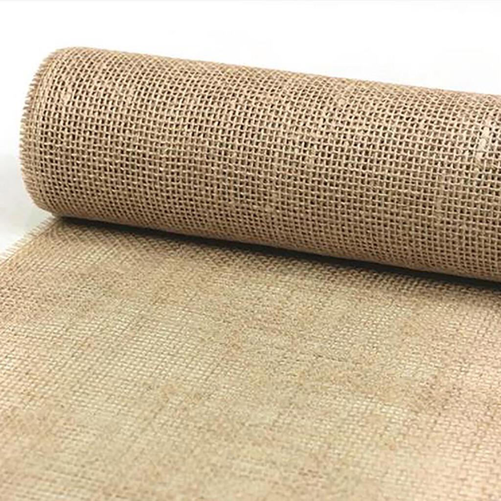 Tischband Tischbänder Jutestoff Wickelband farbig  4cm breit 25m lang auf Rolle