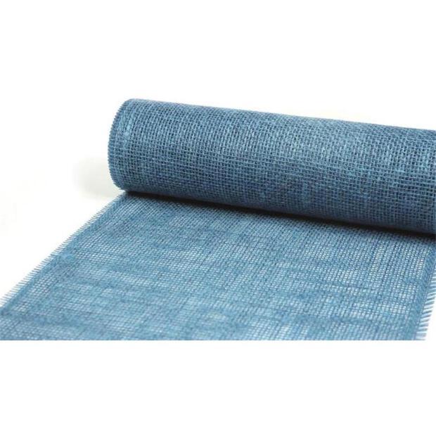 Jute Tischläufer 30cm x 5m 7450 niagara blau