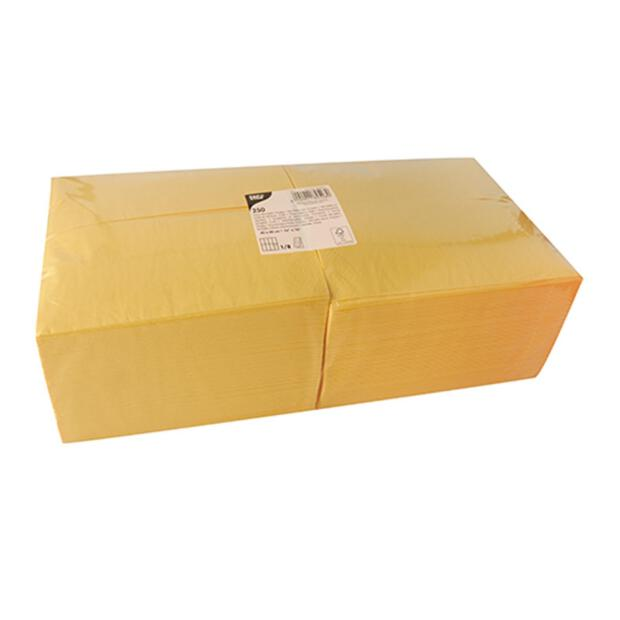 250 Servietten, 3-lagig 1/8-Falz 40 cm x 40 cm gelb