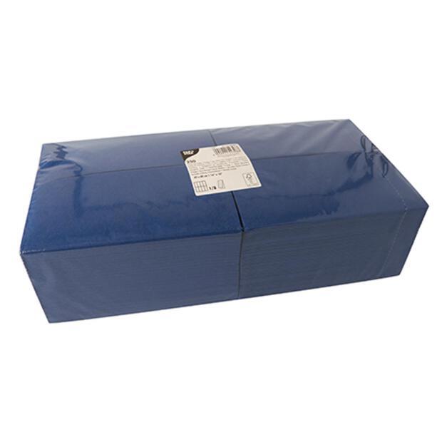 250 Servietten, 3-lagig 1/8-Falz 40 cm x 40 cm dunkelblau