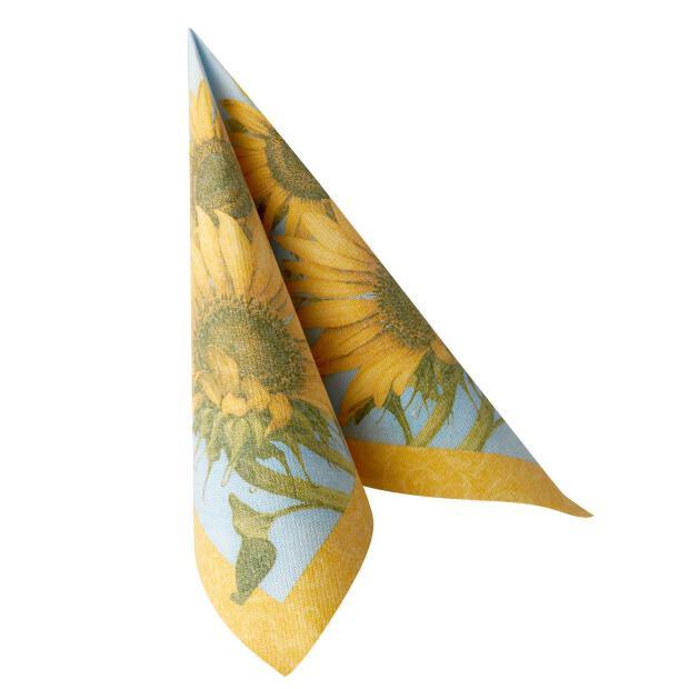 50 Servietten Papstar Royal Collection Sunflower 40 cm x 40 cm 87205