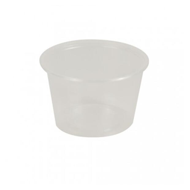 50 Dressingbecher, PP rund 100 ml Ø 7,1 cm · 4,3 cm transparent