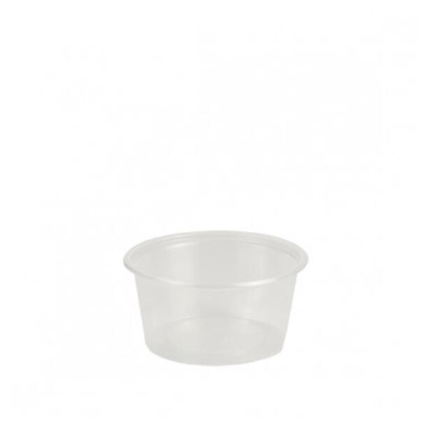 50 Dressingbecher, PP rund 80 ml Ø 7,1 cm · 3,5 cm transparent