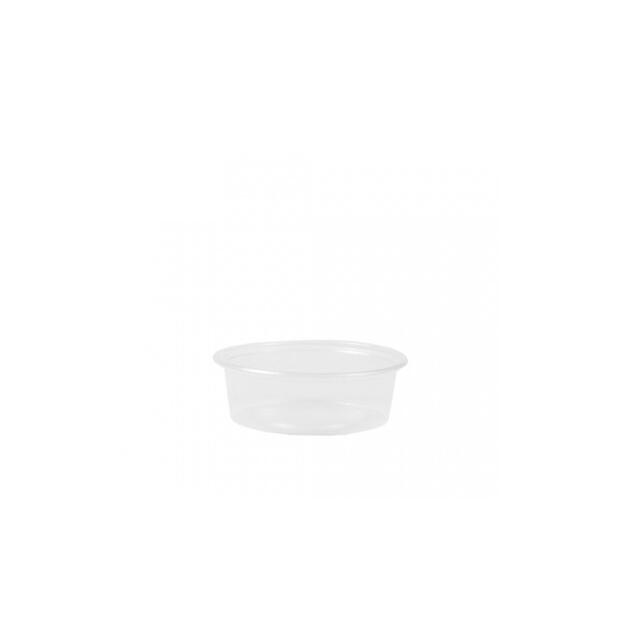 50 Dressingbecher, PP rund 50 ml Ø 7,1 cm · 2,4 cm transparent