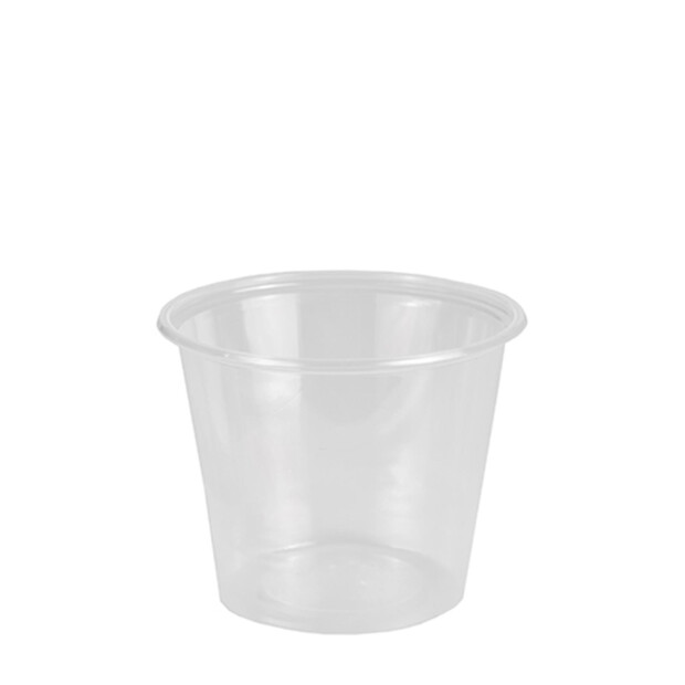 50 Dressingbecher, PP rund 125 ml Ø 7,1 cm · 5,7 cm transparent