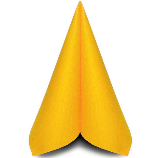 50 Airlaid Servietten Mank Uni gelb 40 x 40 cm 87510
