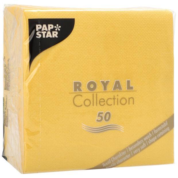50 Servietten Papstar Royal Collection Uni gelb 25 cm x 25 cm 86241