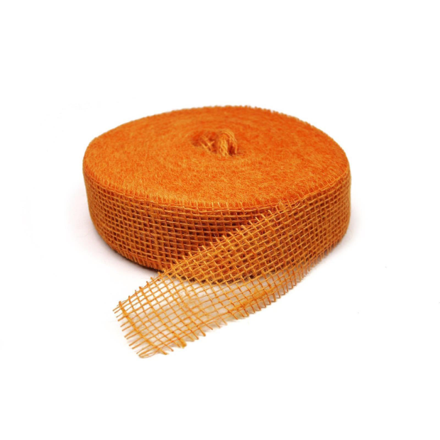 Jute Band 5cm x 40m 8170 hell orange