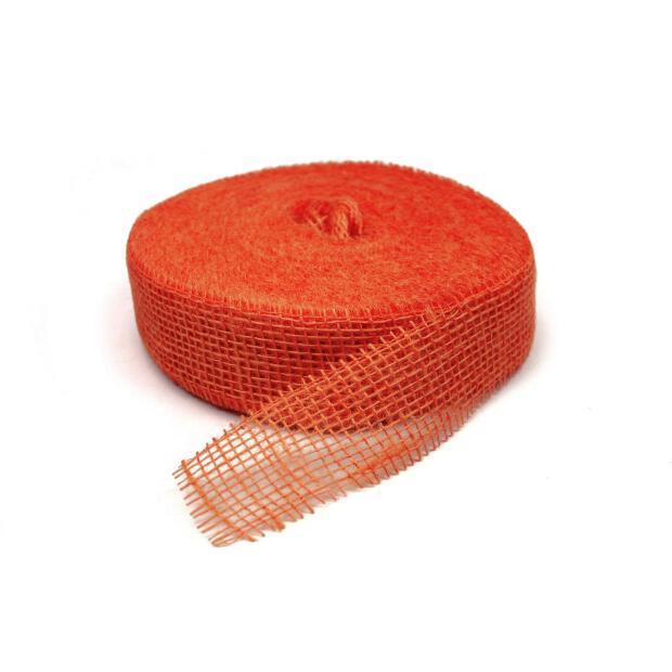 Jute Band 5cm x 40m 8280 orange