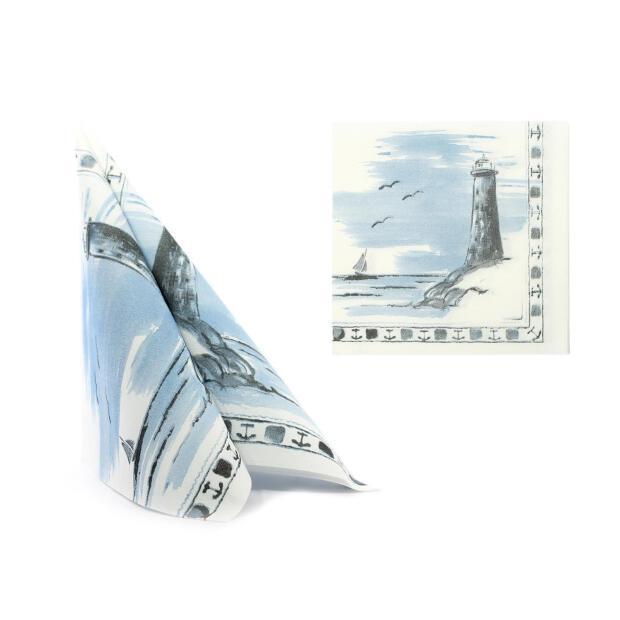 50 Airlaid Servietten 40x40 cm 0900 Leuchturm