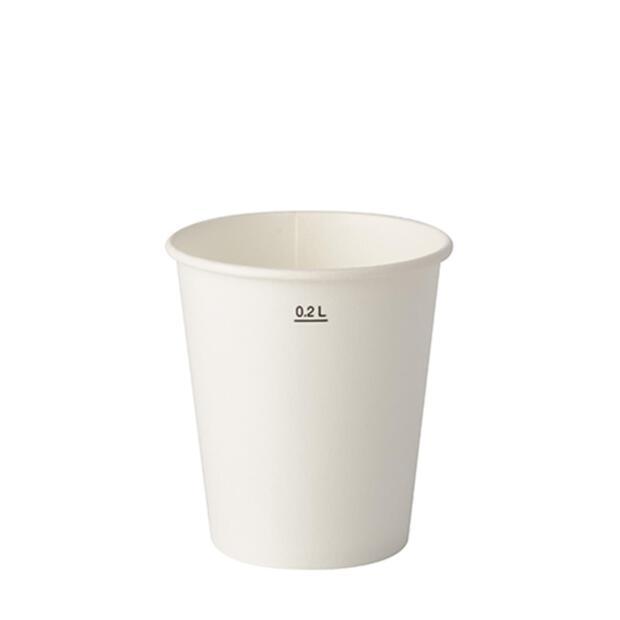 100 Trinkbecher für Kaltgetränke, Pappe 0,2 l Ø 8 cm · 8,8 cm weiss