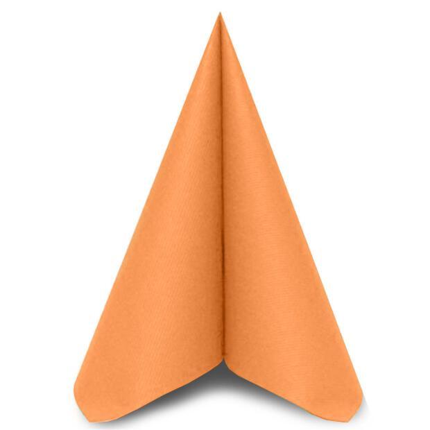 50 Airlaid Servietten Mank Uni apricot 40 x 40 cm 87509