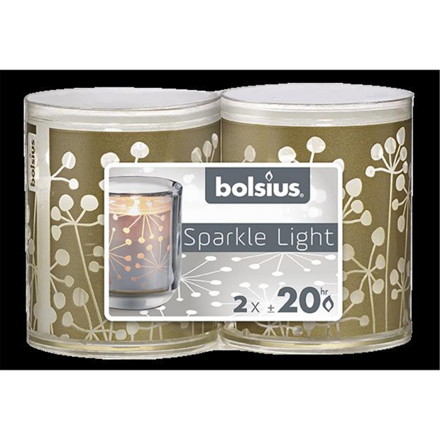 Bolsius Sparkle Lights Natur 2er-Pack