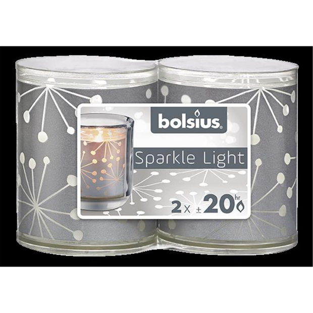 Bolsius Sparkle Lights Kristall 2er-Pack