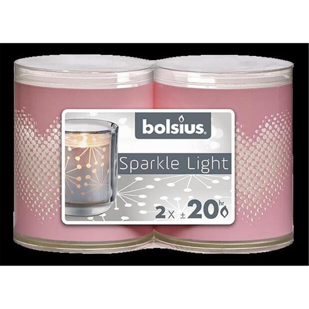Bolsius Sparkle Lights Herzl 2er-Pack