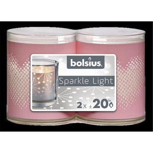 Bolsius Sparkle Lights Herzl 2er-Pack