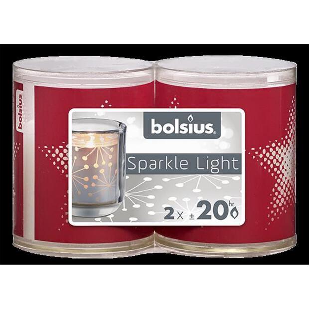 Bolsius Sparkle Lights Stern 2er-Pack