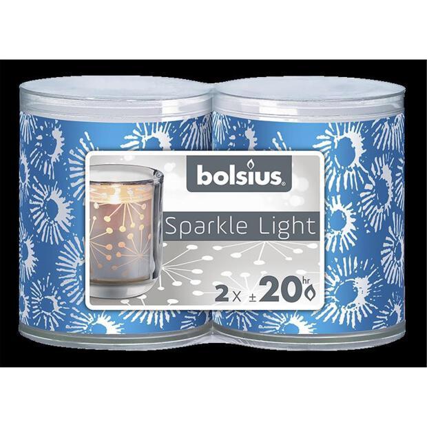 Bolsius Sparkle Lights Coral 2er-Pack