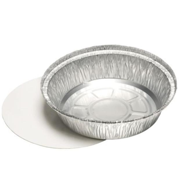 25 Schalen, Alu + Einlegedeckel, PP-beschichtet rund 770 ml Ø 18,2 cm · 4 cm
